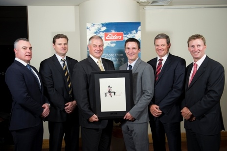 (L-R) Nick Fazekas (General Manager Corporate Key Accounts), Phil Speers (Zone General Manager, North), Malcolm Hunt (Zone General Manager, South), Todd Brown (Branch Manager Bendigo), David Goodfellow (Group General Manager Australian Network), James Cornish (Zone General Manager, West).